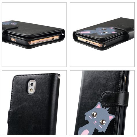 Samsung Note 3 Flip Cover Casing Magnet Cover Armor Bumper Tpu Keren luxury magnetic flip leather card cover wallet for samsung galaxy note 3 ebay