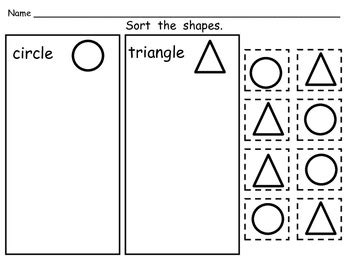 Sorting Shapes Worksheets For Kindergarten by Free Sorting Shapes Practice Pages Both 2 D And 3 D
