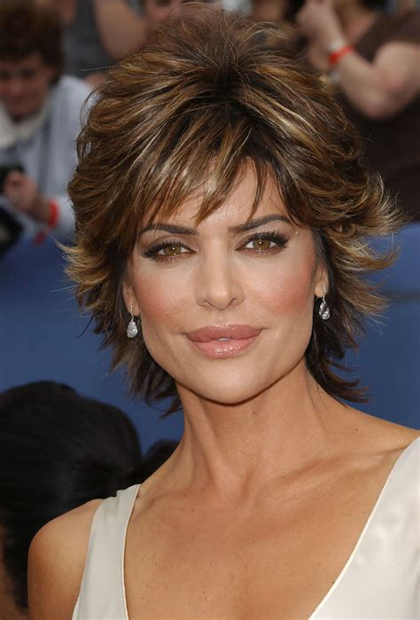 short hair styles off the face lisa rinna in 33rd annual daytime emmy awards zimbio
