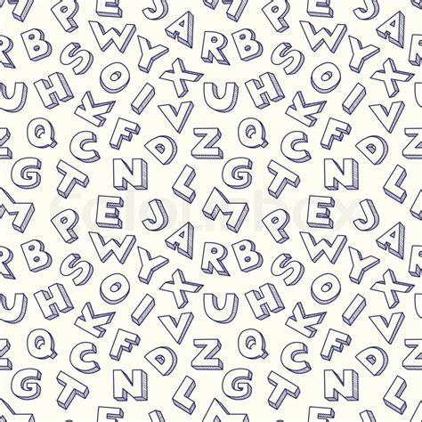 stock abc pattern scribble alphabet seamless pattern stock vector colourbox