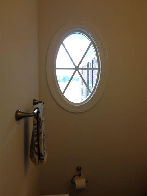 round bathroom window round window covering