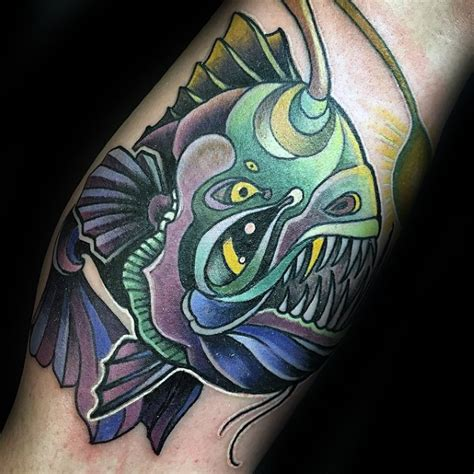 angler fish tattoo 60 angler fish designs for sea ink ideas