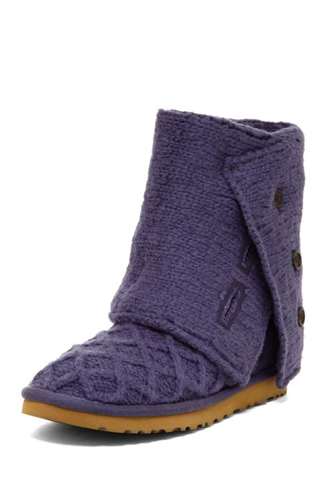 ugg australia cardy knit flat boots