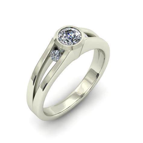 simple modern custom engagement ring the goldsmiths ltd
