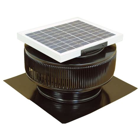master flow 500 cfm solar powered gable mount exhaust fan