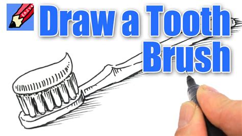 How To Make Vire Teeth Out Of Paper - how to draw a tooth brush real easy