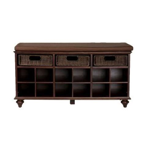 shoe storage home depot home decorators collection chelmsford shoe bench in