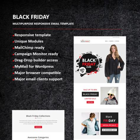 Newsletter Templates Newsletter Email Templates Templatemonster Black Friday Email Template