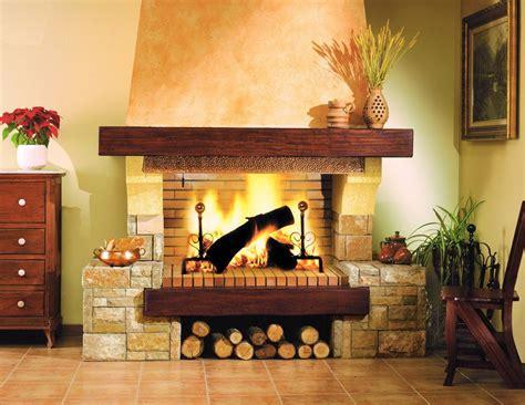 chimenea madera chimenea de piedra y madera chimeneas cl 193 sicas
