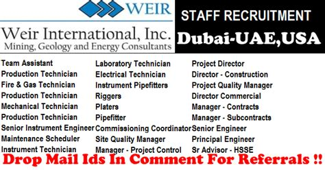 Mba In Gulf In And Gas by And Gas Vacancies In Weir International