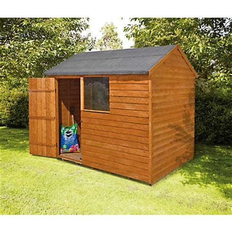 Home Base Garden Sheds by Forest Apex Shed 8ft X 6ft At Homebase Be