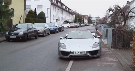 stuttgart car porsche 918 wants to be a regular car in stuttgart