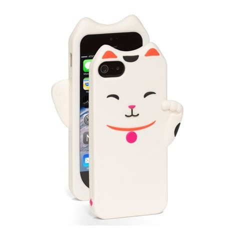 Iphone 6 6s 3d Bowknot Lucky Cat Silicone Cases Cover T1910 6 kate spade new york iphone 5 5s silicone lucky cat