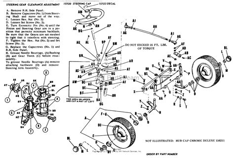 steering wheel parts diagram simplicity 2029900 b 112 12hp parts diagram for front