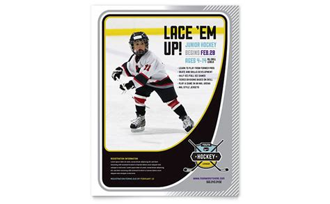 hockey flyer template junior hockey c flyer template word publisher