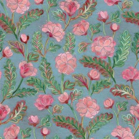 soft baroque pattern pink juliesfabrics spoonflower soft smudgy pink and green floral pattern small fabric