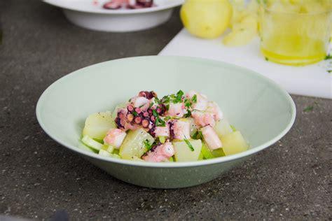 insalata di polpo e sedano ricetta insalata di polpo gnambox