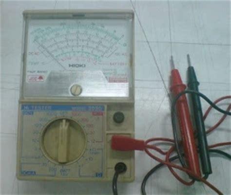 Multimeter Jarum belajar untuk maju menentukan kaki dan jenis transistor dengan avo meter analog