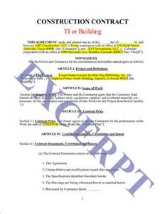 Building Contract Letter Sle Construction Contract Ti Or Building Realcreforms