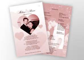 photo wedding programs wedding programs