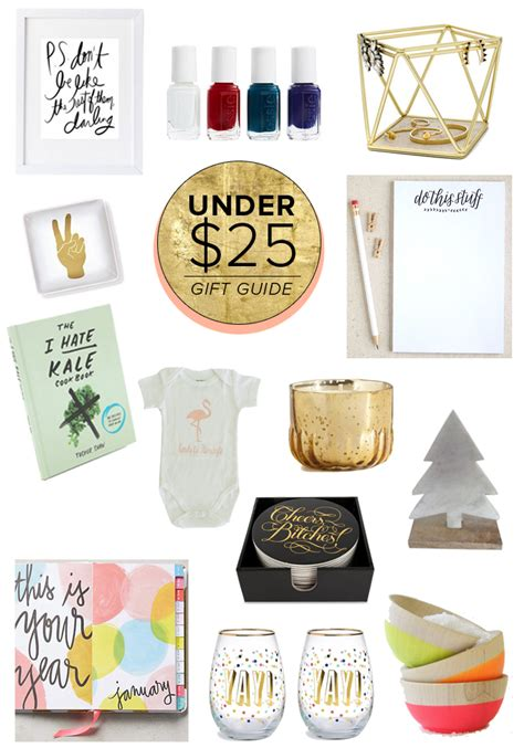 gift guide best under 25 the average girl s guide
