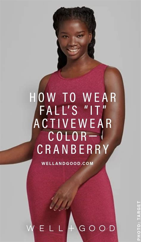 Fitness Barre Cranberry - 8 cool cranberry activewear options for fall health and