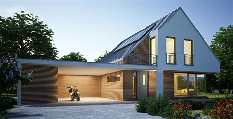 Haus Und Haus Immobilien by Haus Zinkdach Mit Carport Abend Alpha Immobilien