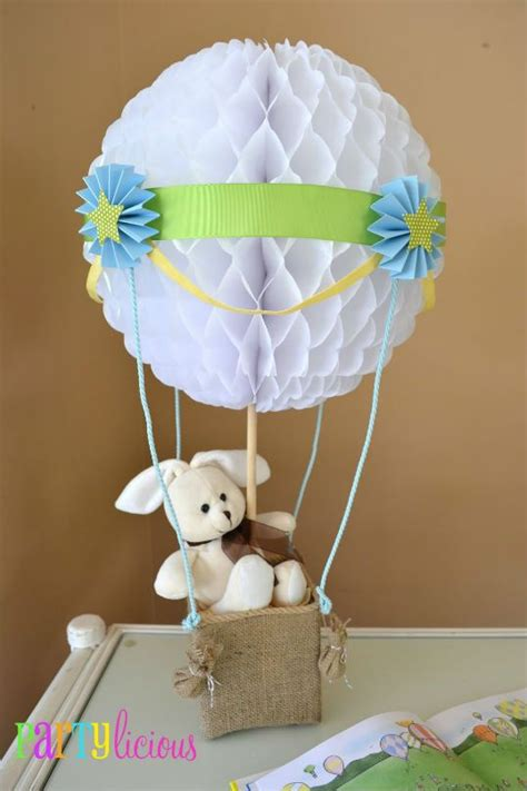Hot Air Balloon Sky Baby Shower Party Ideas Centerpieces Balloons Baby Shower Centerpieces