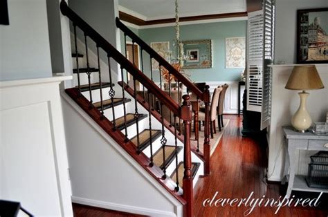Restaining Banister by 17 Best Images About Stairs On Iron Balusters