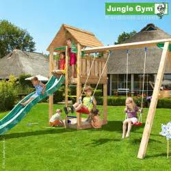 outdoor playhouse with slide and swing jungle gym kids cabin slide and swing set outdoor garden