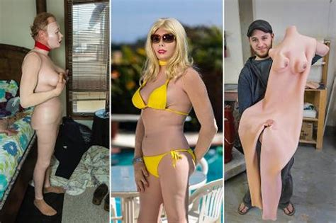 sissy boys with no pubic hair meet creator of bizarre rubber female body suits that let