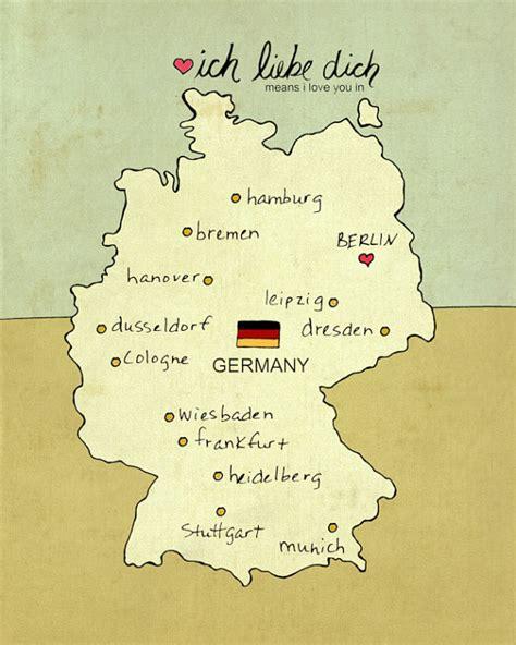 children es wall karten i you in germany german map giclee modern baby