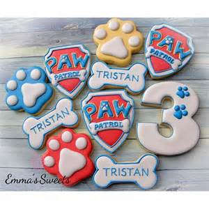 Cupcakes Decorated With Sweets Paw Patrol Cookies On Instagram
