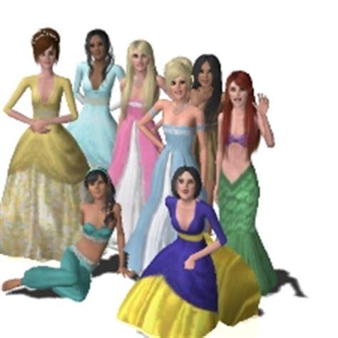 sims 3 princess hair disney princesses by fudgemama the exchange community