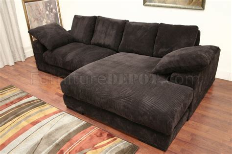 dark brown sectional couch dark brown ribbed velvety microfiber modern sectional sofa