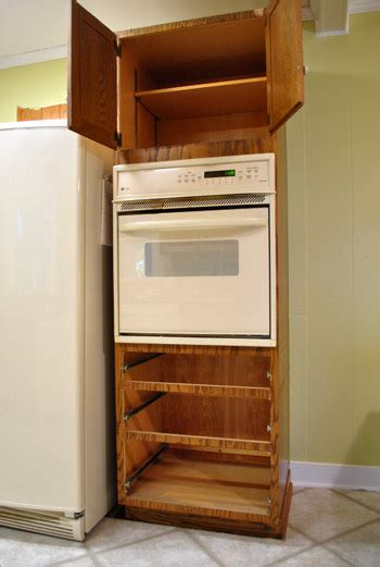built in oven cabinet construction how to make a hidden door bookcase woodcraft design