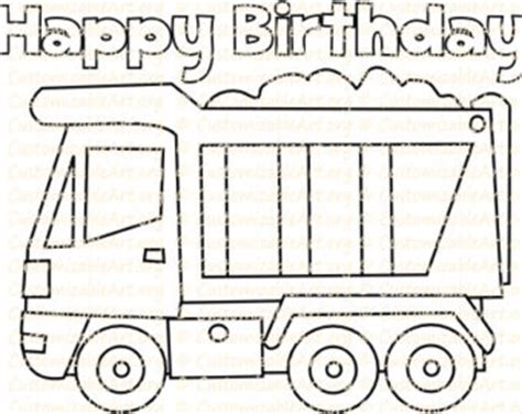 happy birthday tractor coloring pages truck coloring page etsy