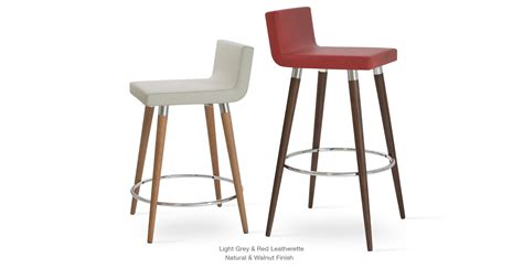 Wenge Bar Stool by Modern Wood Stools Sohoconcept