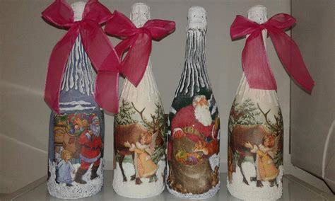 decorate per natale bottiglie decorate per natale feste natale di botega