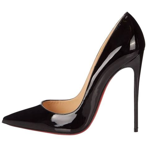 black patent leather high heels christian louboutin new black patent leather so kate high
