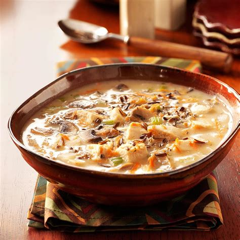 wild rice chicken soup cooking light chicken wild rice soup recipe taste of home