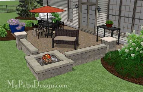 Large Paver Patio Large Rectangular Paver Patio Design With Pit Mypatiodesign