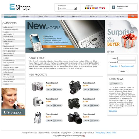 25 Best Free Online Store Templates And Themes Free Store Website Templates