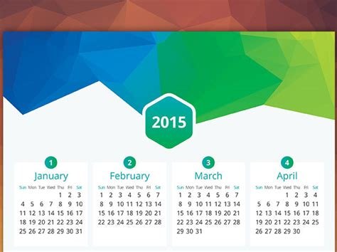calendar design 2015 vector free download flat calendar 2015 vector free download