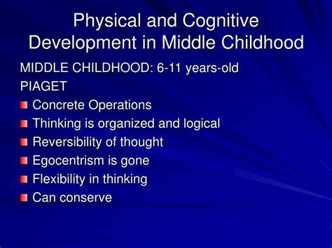 What Is L Development by Ppt Physical And Cognitive Development In Middle