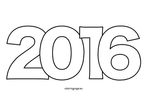 new year color page 2016 year 2016 coloring page coloring page