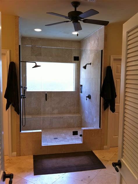 L Shower Bath remodelaholic master bathroom remodel with double shower