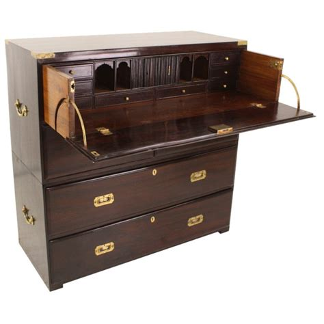 Antique English Desk Caign Chest Of Drawers At 1stdibs