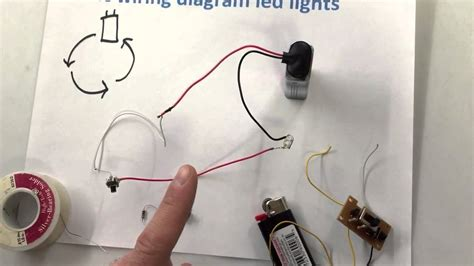 how to wire up led lights with a battery basic wiring