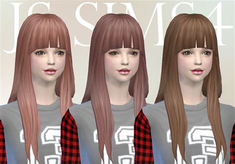 long hair with bangs sims2 sims 4 hairs js sims 4 notegain alicia hairstyle retextured